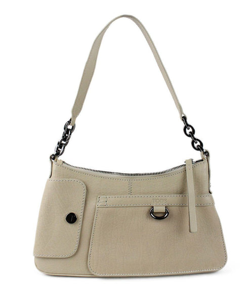 Tod's Beige Leather Bag - Michael's Consignment NYC  - 1