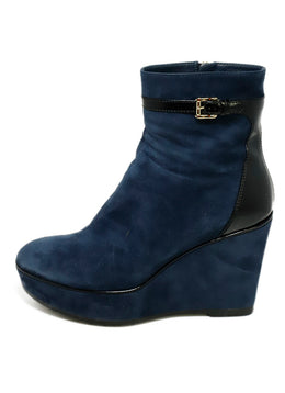 Tod's Blue Suede Booties 1