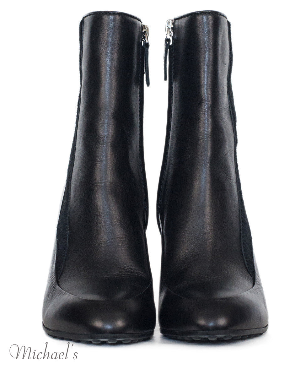 Tod's Black Leather Boots w/ Wedge Sz 35.5 - Michael's Consignment NYC  - 3
