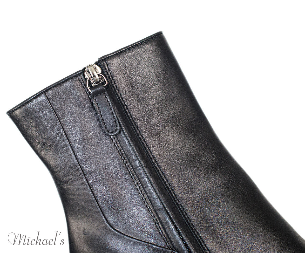 Tod's Black Leather Boots w/ Wedge Sz 35.5 - Michael's Consignment NYC  - 8