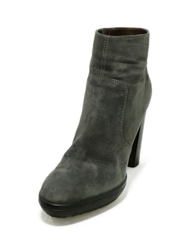 Tod's Grey Suede Booties 1