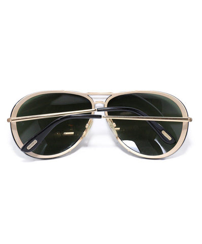 Tom Ford Black Gold Aviator Sunglasses 1