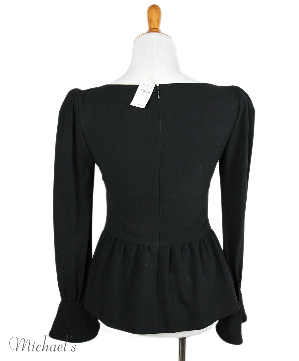 Tom Ford Black Wool Top Sz 4 - Michael's Consignment NYC  - 3