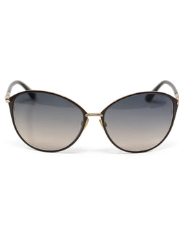 Tom Ford Brown Metal Sunglasses
