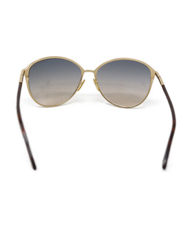 Tom Ford Brown Metal Sunglasses 1