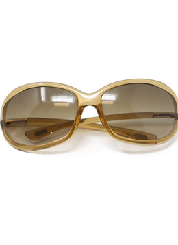 Tom Ford Brown Plastic Sunglasses 1