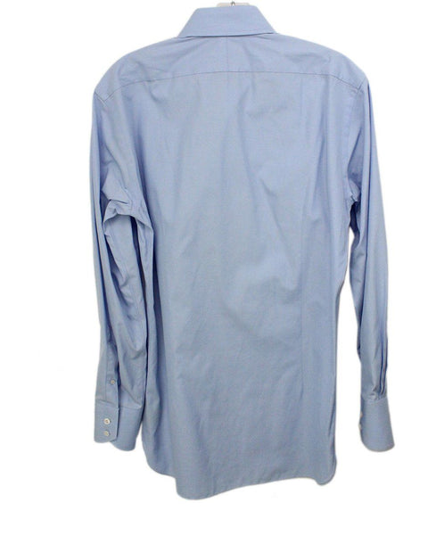 Tom Ford Mens Blue Button Down 1