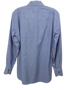 Tom Ford Mens Blue Button Down Top 1