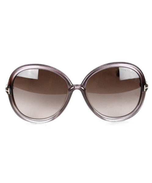 Tom Ford Purple Plastic Metallic Sunglasses