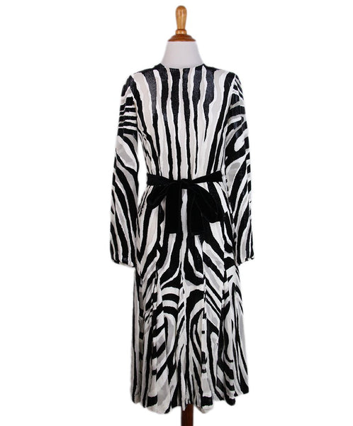 Tom Ford White Black Silk Velour Dress 1