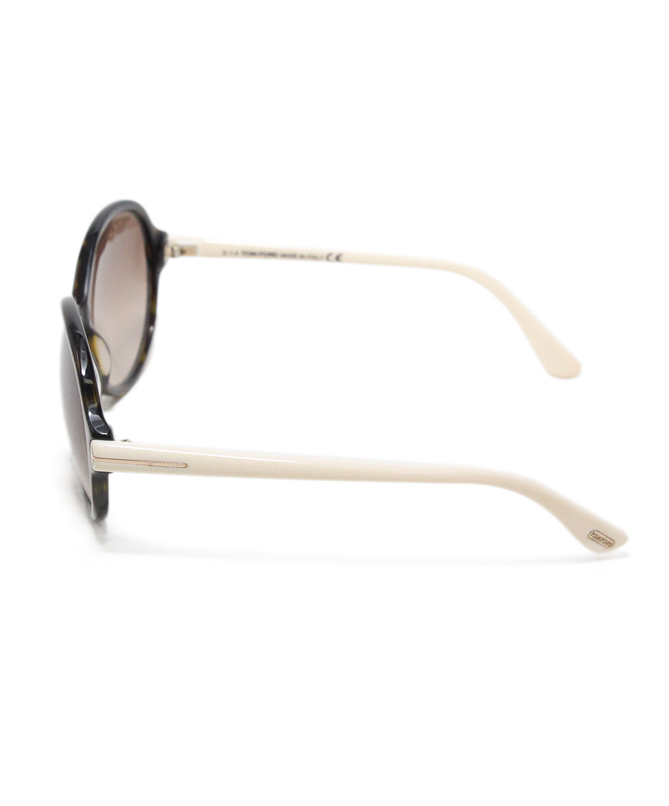 Tom Ford White plastic brown lens sunglasses 2