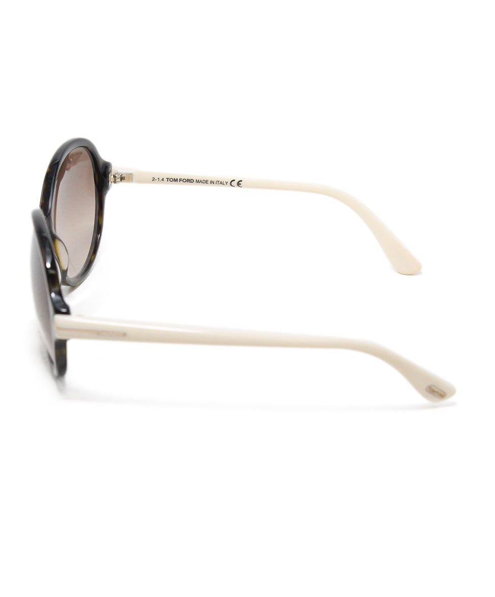 Tom Ford White plastic brown lens sunglasses 3