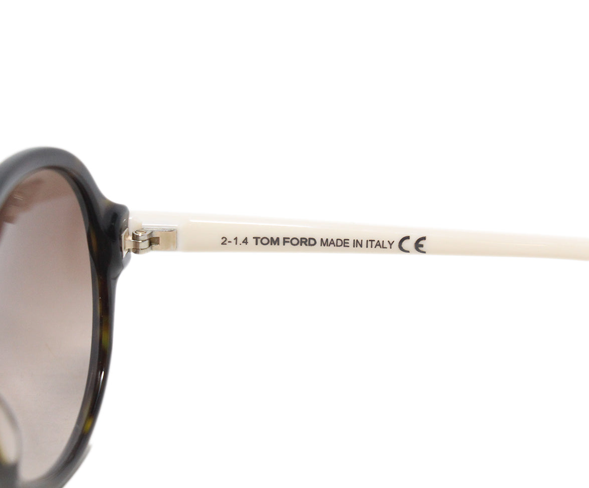 Tom Ford White plastic brown lens sunglasses 4