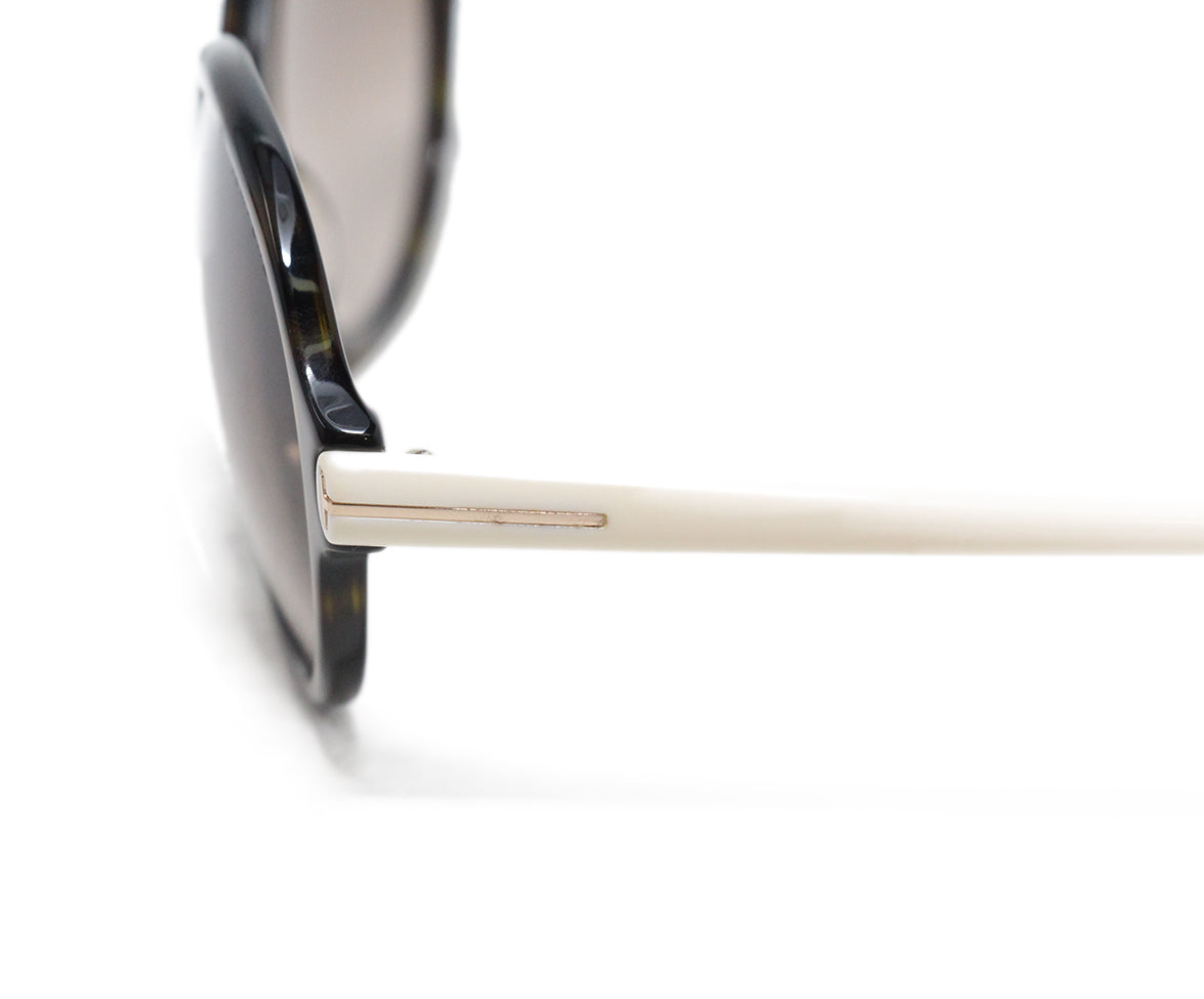 Tom Ford White plastic brown lens sunglasses 6