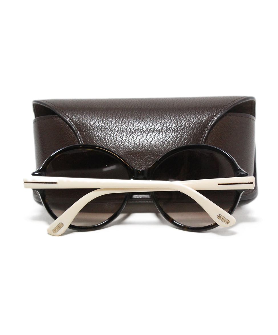 Tom Ford White plastic brown lens sunglasses 7