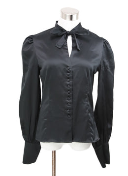 Tom Ford Black Button Down Peasant Sleeve Blouse 1