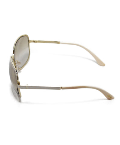 Tom Ford White Gold Brown Lens Sunglasses 1