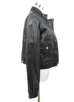 Tory Burch Black Leather Jacket 2