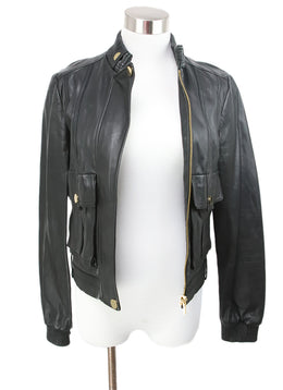 Tory Burch Black Leather Jacket 1