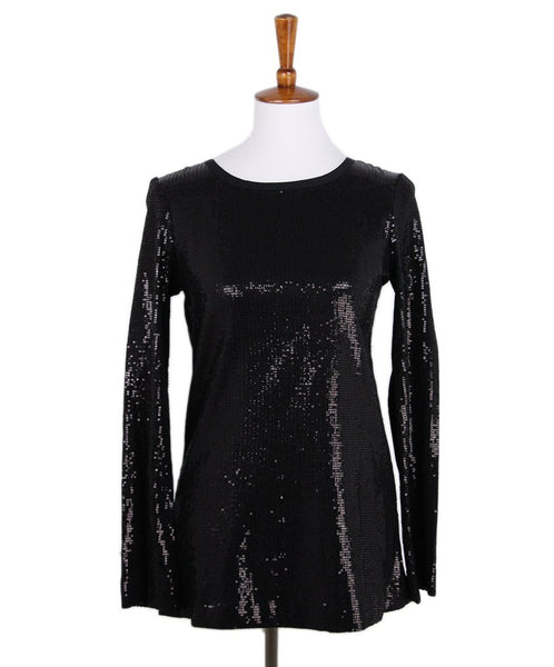 Tory Burch Black Sequins Top 1