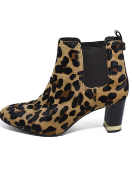 Tory Burch Brown Animal Print Pony Booties 2