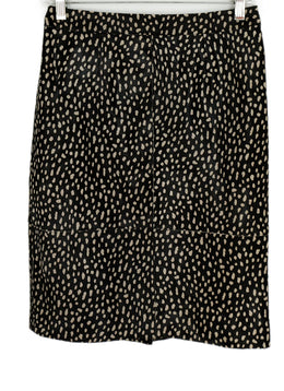 Tory Burch Brown White Print Fur Skirt 1