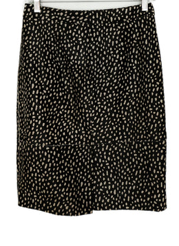 Tory Burch Brown White Print Fur Skirt 2