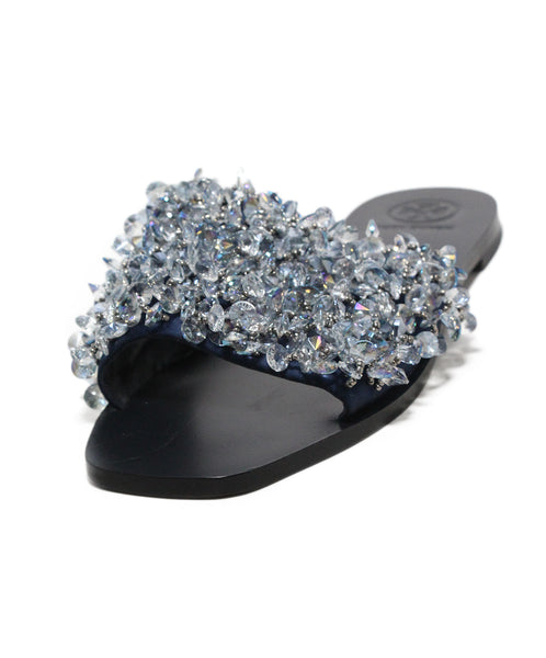 Tory Burch navy crystal sandals 1