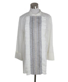 Tory Burch White Cotton Ruffle Shirt 1