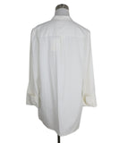 Tory Burch White Cotton Ruffle Shirt 4