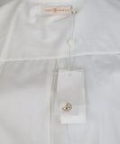 Tory Burch White Cotton Ruffle Shirt 5