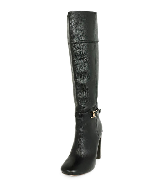 Tory Burch Black Leather Boots 1