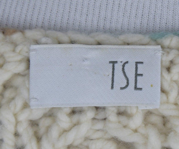 Tse Neutral Mint Taupe Grey Cableknit Cashmere Sweater 4