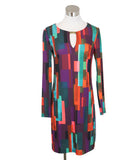 Turk Multi Print Polyester Dress 1