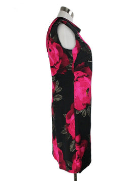 Turk Black Fuchsia Floral Rayon Cotton Dress 2