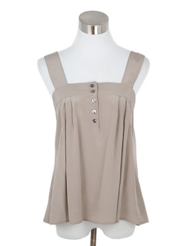 Ulla Johnson Taupe Silk Top 1