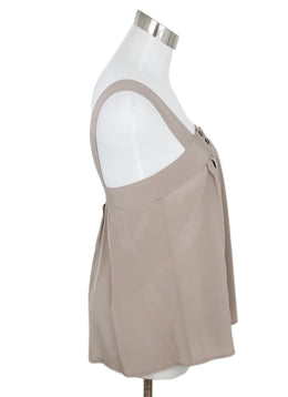 Ulla Johnson Taupe Silk Top 2