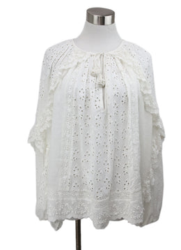 Ulla Johnson White Eyelet Cotton Top 1