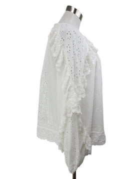 Ulla Johnson White Eyelet Cotton Top 2