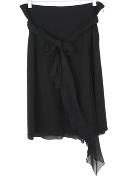 Ungaro Black ViscoseSkirt 1