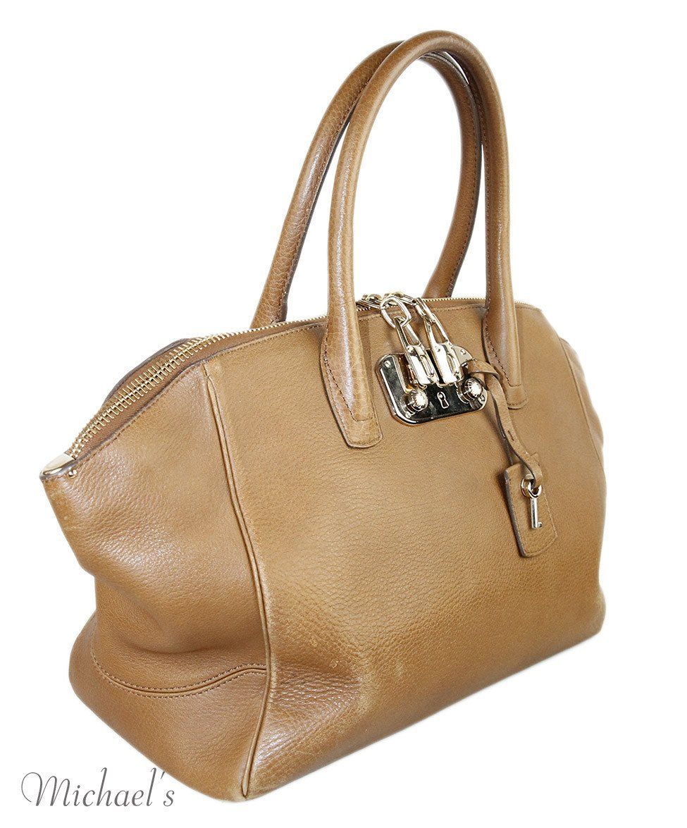"VBH Camel Leather ""Brera"" Handbag"