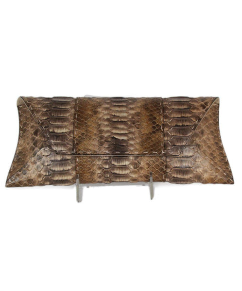 VBH brown beige python clutch 1