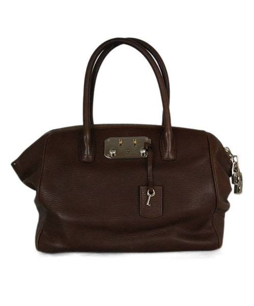 VBH brown leather tote 1