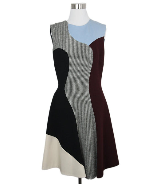 V. Beckham Black Burgundy Dress 1