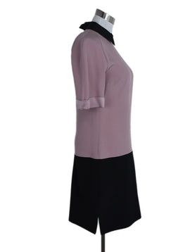 V. Beckham Pink Mauve Black Acetate Viscose Dress 2