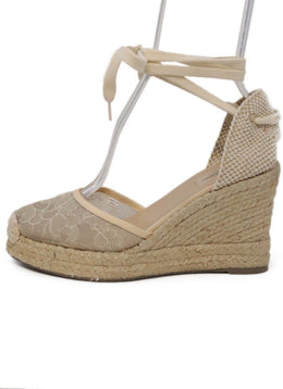 Valentino Tan Lace Espadrilles Wedges 1