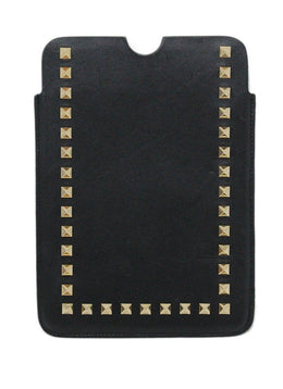 Valentino Black Leather Gold Stud iPad Mini Case 2