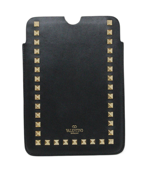 Valentino Black Leather Gold Stud iPad Mini Case 1
