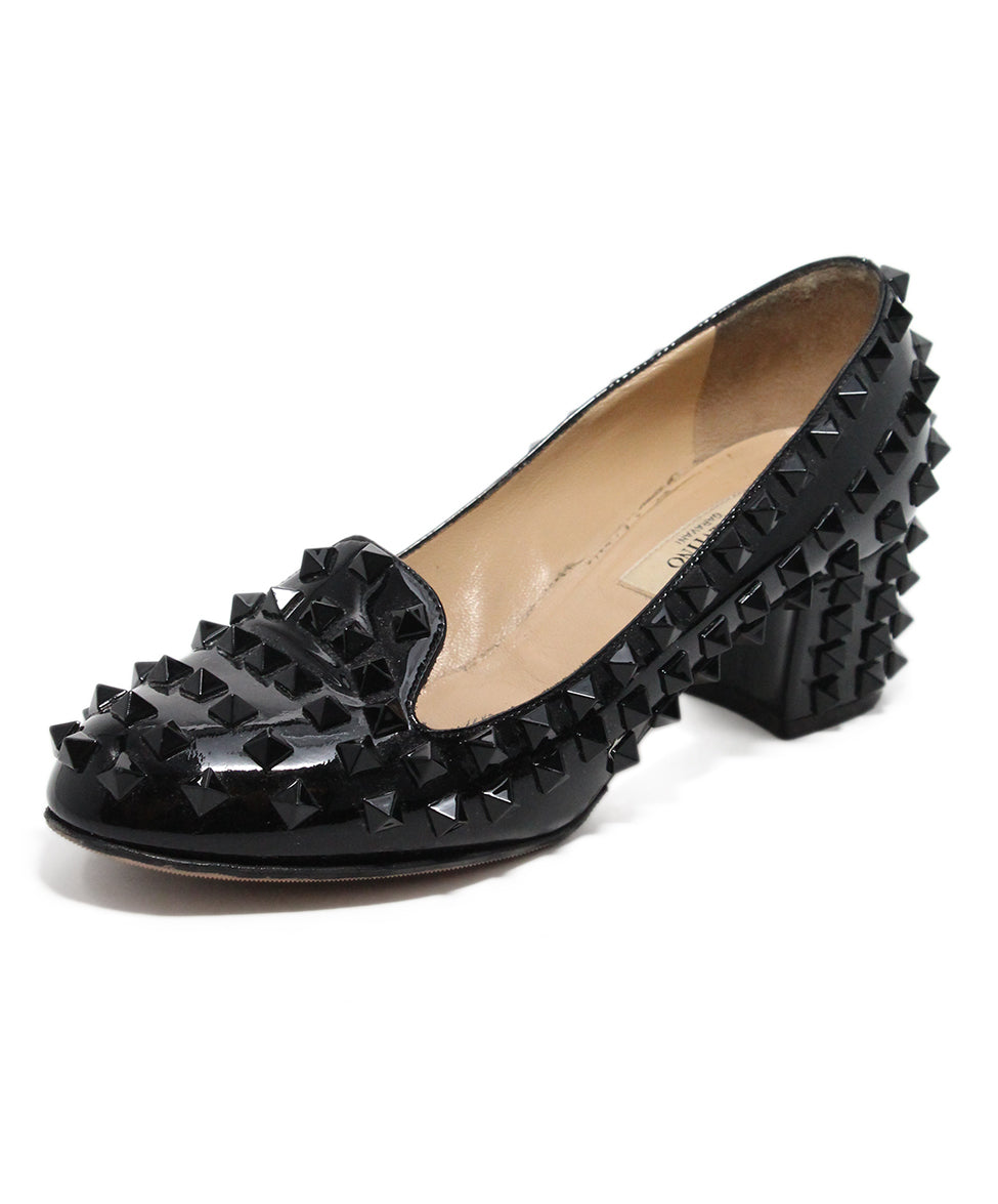Valentino Black Patent Leather Stud heels 1