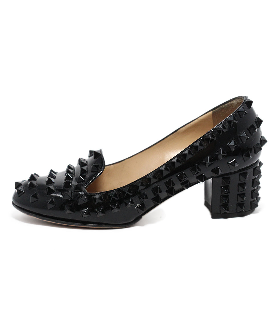 Valentino Black Patent Leather Stud heels 2